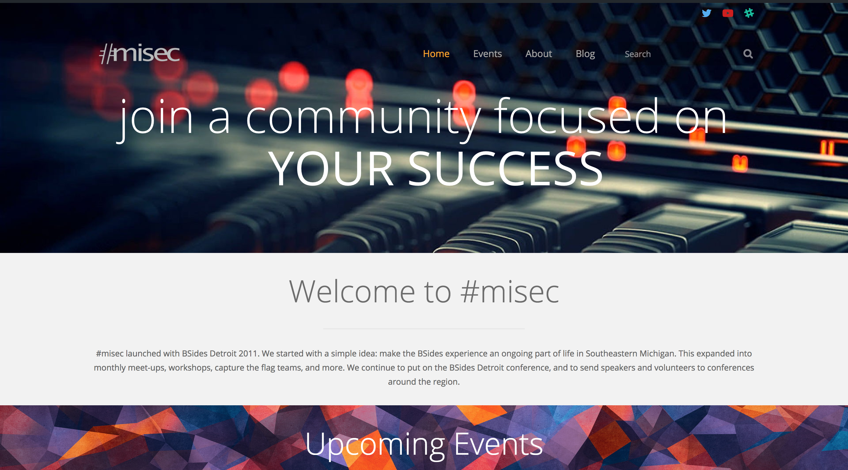 Welcome to the new #misec Website